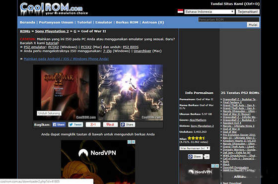 god of war ps2 iso download ita