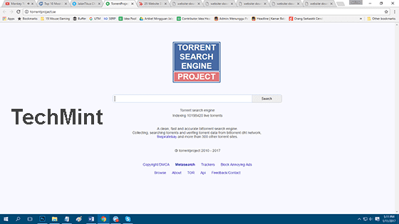 TorrentProject ExtraTorrent Unblock Download Sites