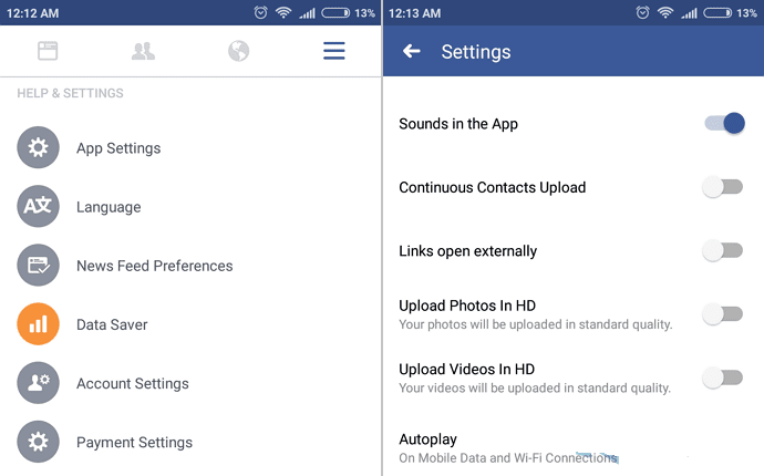 How to turn off Autoplay Video on Facebook Android / iPhone