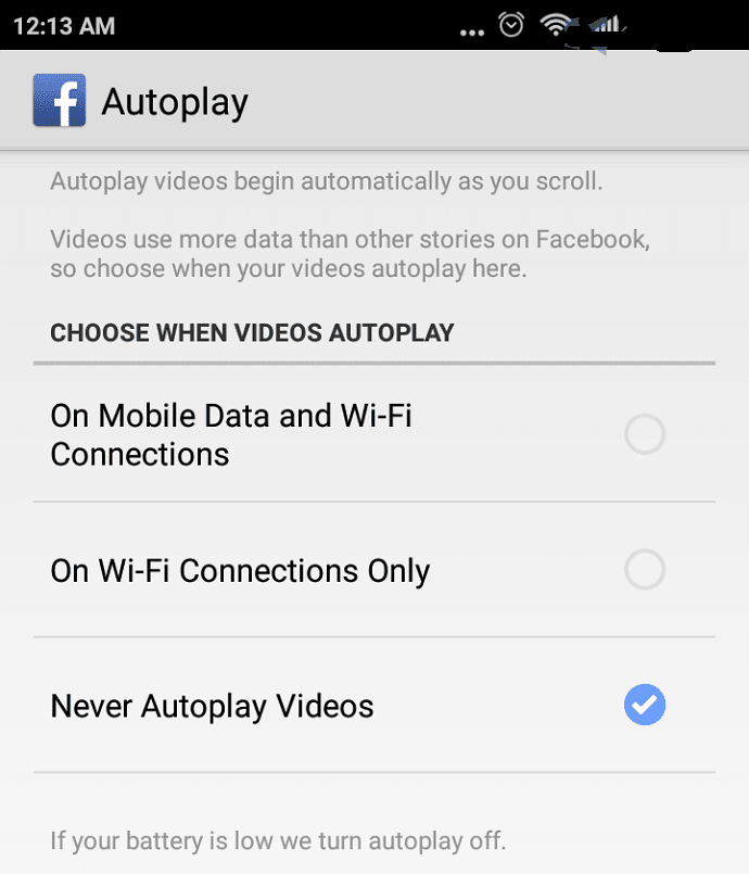 Turn Off Disable Autoplay Videos on Facebook 4
