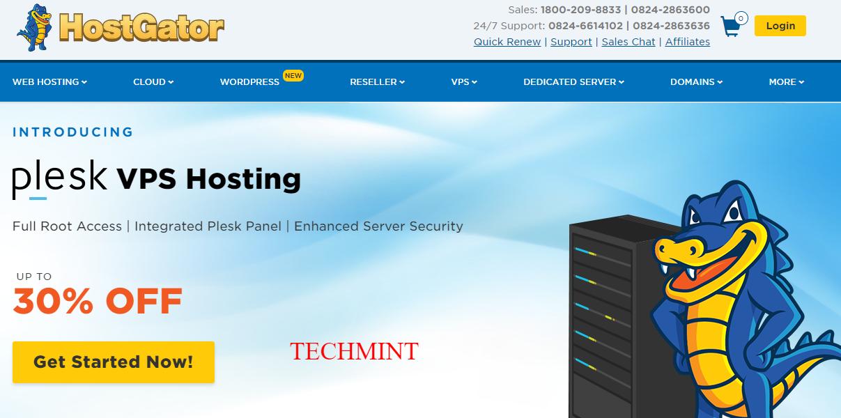 Web Hosting Shared Reseller Cloud VPS Hosting Dedicated Server HostGator India