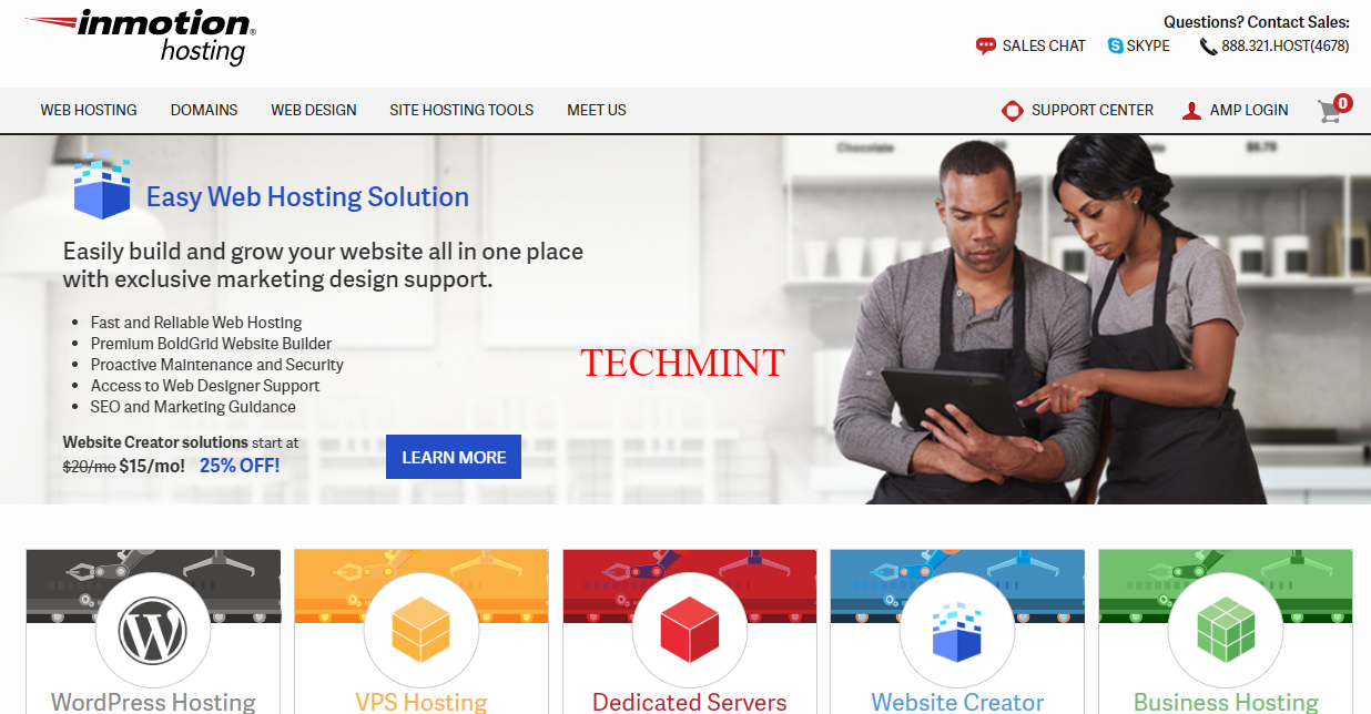 Web Hosting VPS Hosting Dedicated Hosting Reseller Hosting InMotion Hosting