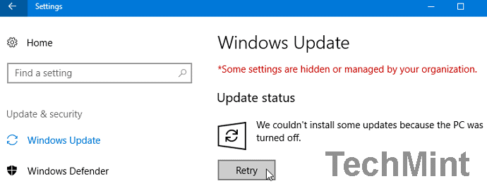 pause windows update