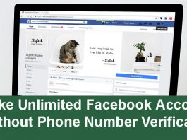 Make Unlimited Facebook Accounts Without Phone Number
