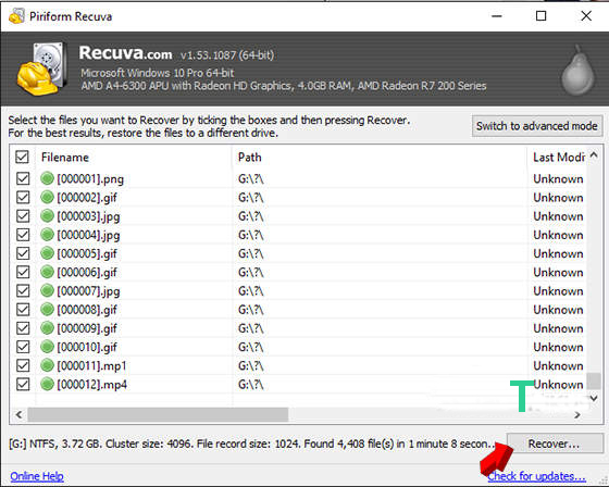 recuva recover software
