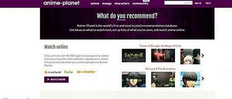 Anime-Planet: animestreams alternatives
