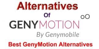 GenyMotion Alternatives