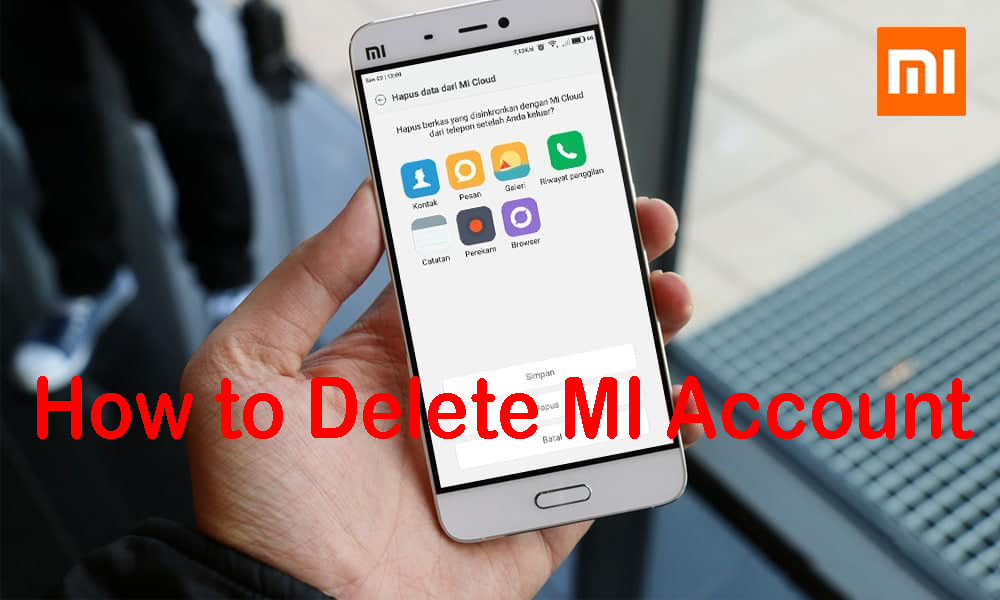 How to Delete MI Account