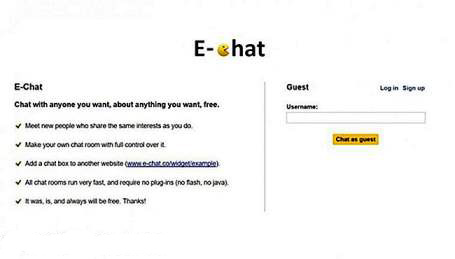 The Best Alternatives to OMGChat is E-Chat