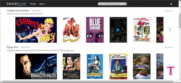 SnagFilms is alternative of Movie4k
