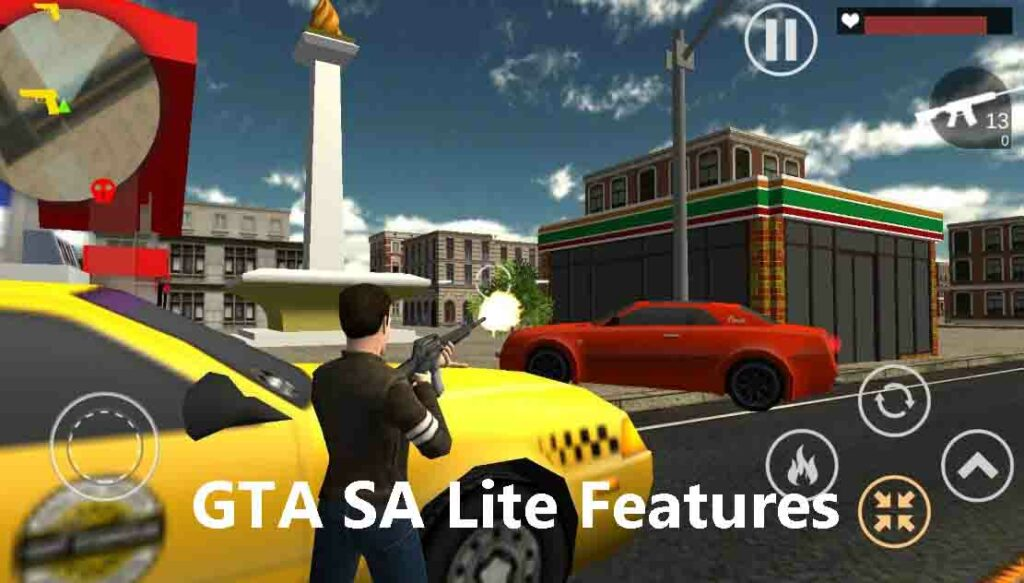 GTA SA Lite Features