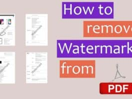How to Remove Watermark From PDF
