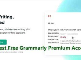 Latest Free Grammarly Premium Account