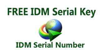 free idm serial number
