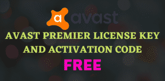 Avast Premier License Key and Activation Code